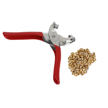 Red 50# Steel Tool Hole Puncher Sturdy Belt Hole Eyelet Pliers Practical Nippers Punching Pliers Button end table