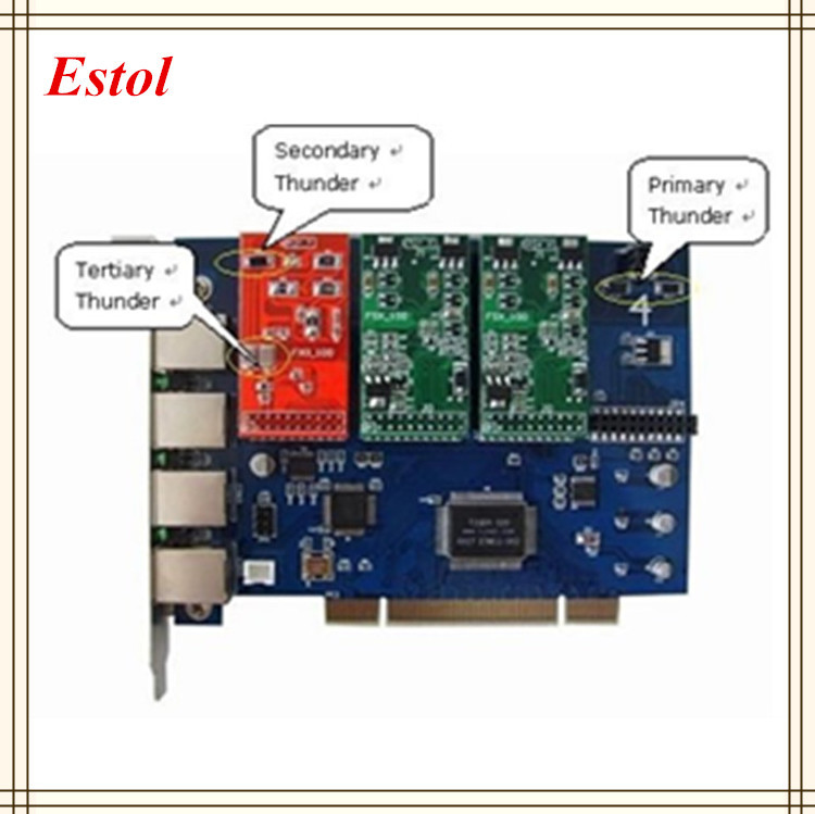TDM410P/TDM410 Asterisk card PCI 2.2 analog telephony card with FXS or FXO inferface,analog voice card, No need Driver