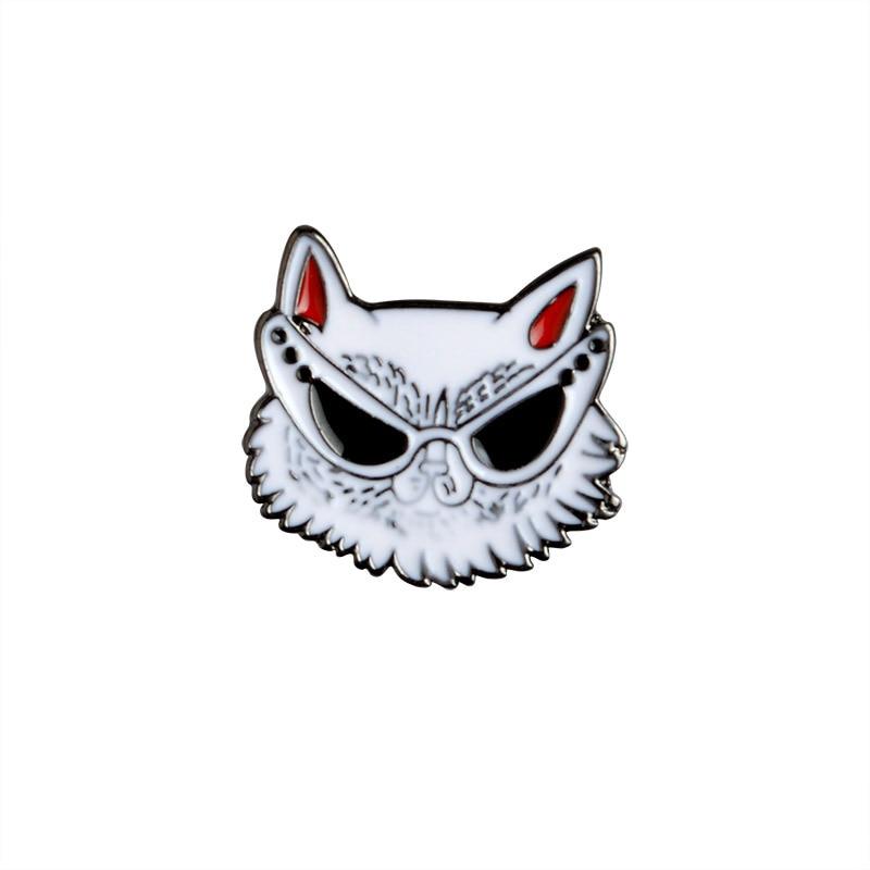 5 PCS / SET Crtani Slatki psi Metalni emajl Pin Životinjski znak - Modni nakit - Foto 2