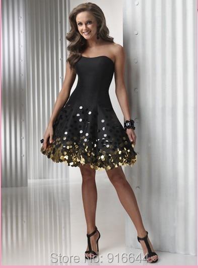 Black And Gold Cocktail Dresses - Ocodea.com
