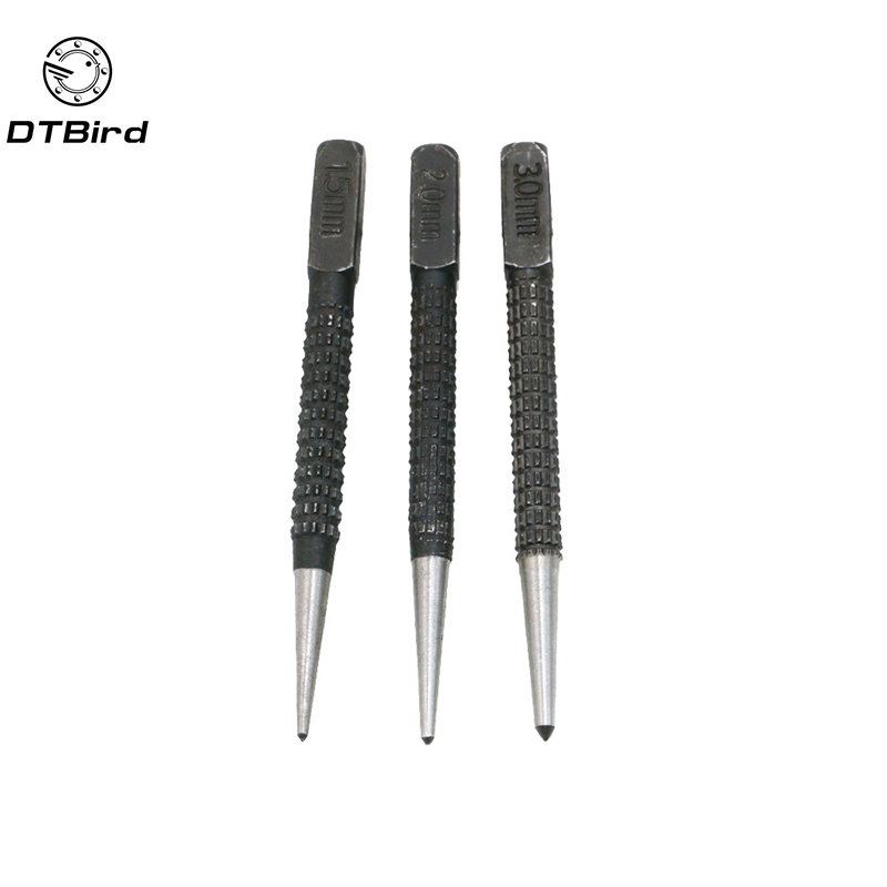 3pcs Non Slip Center Punch Set Alloy Steel 3/32