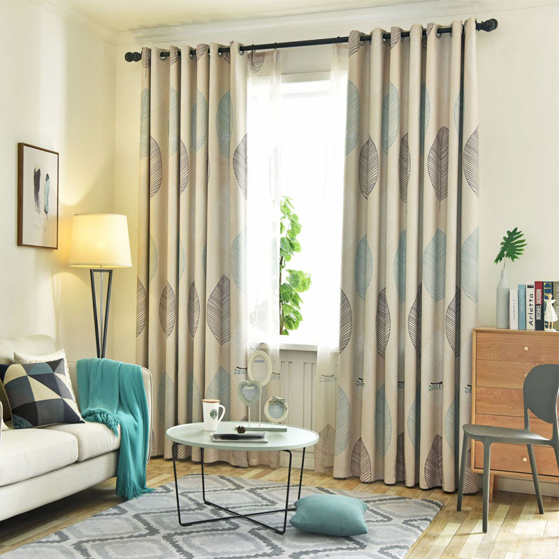 US $10.88 36% OFF Retro Leaves Printed Semi Blackout Curtains Home Living  Room Bedroom Windows Decorative Drapes Curtain For Home Decoration-in ...