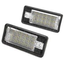 2 шт./лот автомобиля светодиодная лампа лицензии nummer пластины огней для Audi Canbus A3 S3 A4 B6 B7 A6 S6 A8 RS4 CSL2018