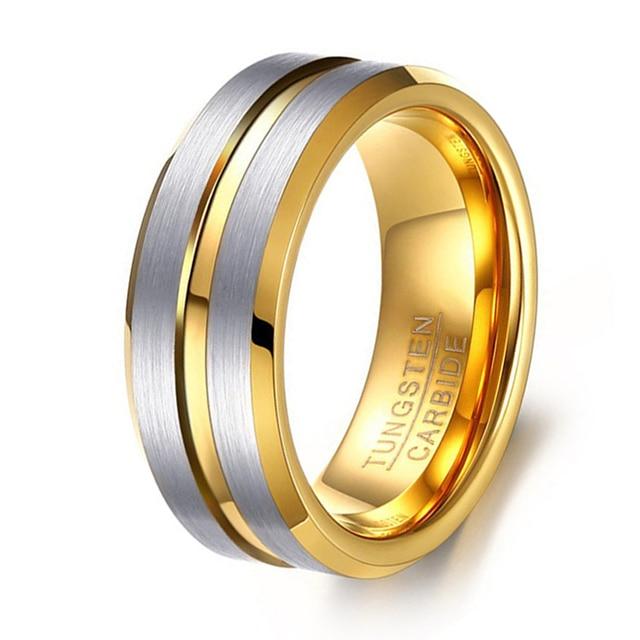european wedding band ring fashion gold plating brushed finish