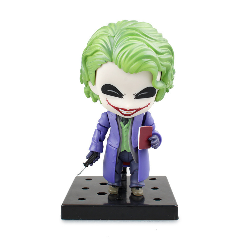 Nendoroid Batman The Dark Night The Joker Villains Edition 566# Q Version PVC Action Figure Collectible Toy Doll 4 10cm