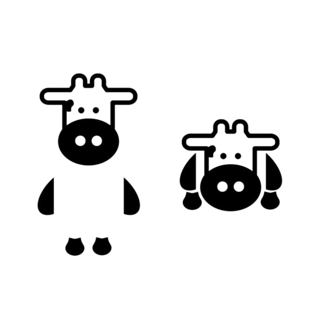 1PCS Home Decoration Lovely Milk Cow Cattle Switch Sticker Cartoon Kids  Bedroom Wall Decals Home Decor