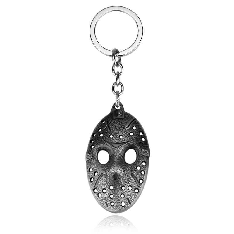Película de terror Viernes 13 Hockey asesino Jason llavero de máscara llaveros para llaves de coche baratija Unisex película joyería
