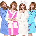 Cosplay women Bathrobe robe cartoon pajamas nightgown hooded robe night-gown leisurewear flannel winter thick
