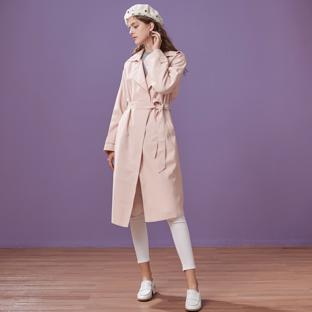 Metersbonwe brand women's   trench   coat long knee-length spring wear new casual fashion coat
