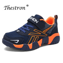 2019 Thestron Brand Trainers Running Breathable Mesh Sneakers Fashion Boys Comfortable Sport Shoes Children Boy