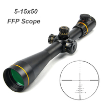 5 15x50 FFP Optical Sight Riflescope Side Parallax Adjustment Long Eye Relief Rifle Scope Sniper Airsoft Hunting Scopes