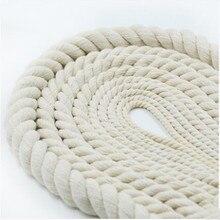 5-15 мм бежевая витая хлопковая Веревка для домашнего ремесла DIY Декор ручной работы толстые хлопчатобумажные струнные шнуры для аксессуаров 10 метров нить веревка