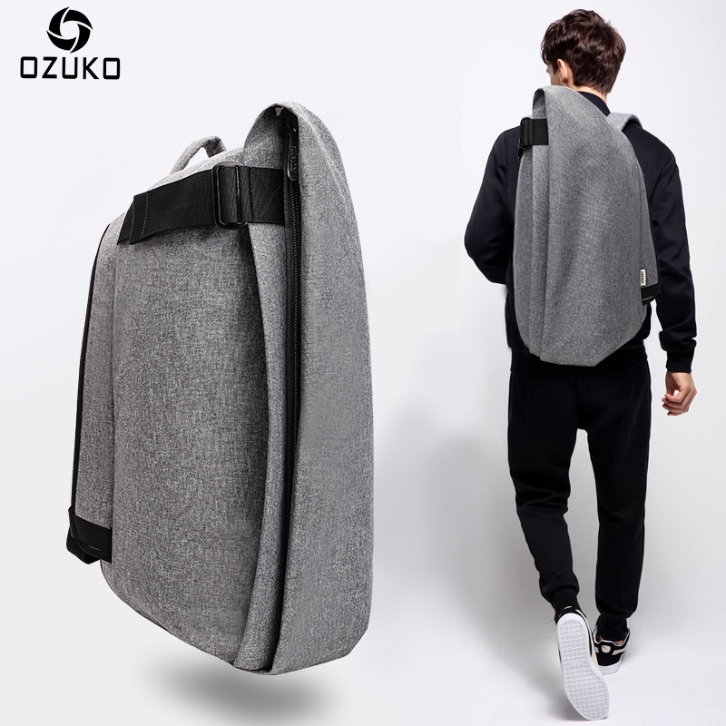 OZUKO Fashion Men Backpack Anti-theft Rucksack School Bag Casual Travel Waterproof Backpacks Male Laptop Computer Bag Mochila casual rucksack waterproof travel male anti theft backpack usb charging men laptop backpacks for teenagers mochila school bag