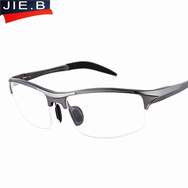 Gafas de montura de aluminio y magnesio de alta calidad Hombres Gafas transparentes Marcos para gafas de grado masculino Gafas graduadas Retro