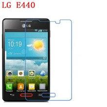 3 PCS HD telefone filme PE toque preservar a visão para L4X LG E440 Optimus L4 II protetor de tela com Limpar