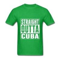 Lüks Marka Erkek Gömlek Slim Fit Düz Outta Küba Tee Basit Stil Kısa Kollu Yetişkin T-Shirt XS, S, M, L, XL, 2XL, 3XL