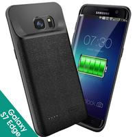 For Samsung S7edge cover cases 5000mAh Battery Portable Charger Protective Charging Case Pack Power Bank for Galaxy S7 4700mAh