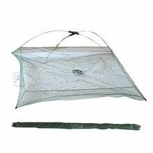 High Quality Folding Fishing Landing Net Square Fishing Network for Catching Fish Shrimp 60cmx60cm 80cmx80cm 100cmx100cm
