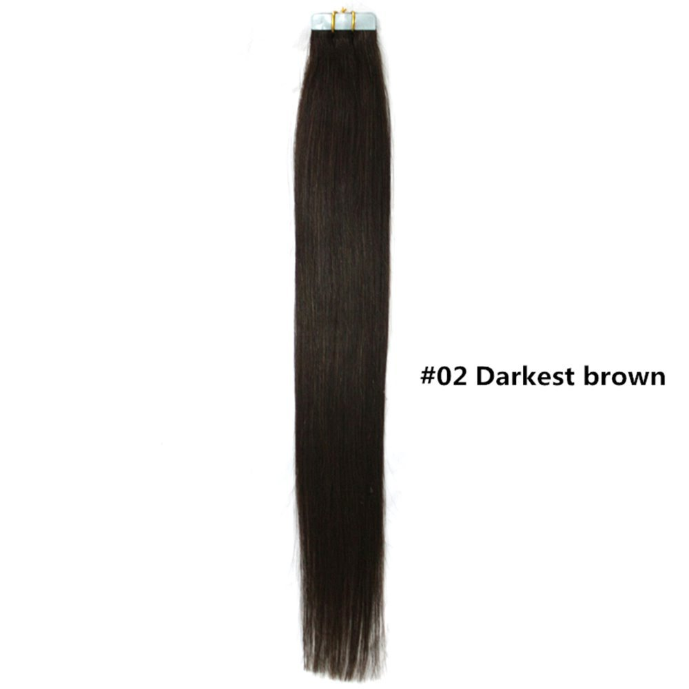 Straight permanent hair -  Elfin Hair Human Tape In Hair Extensions Ombre 20inch 50cm 50g Pack 20pcs
