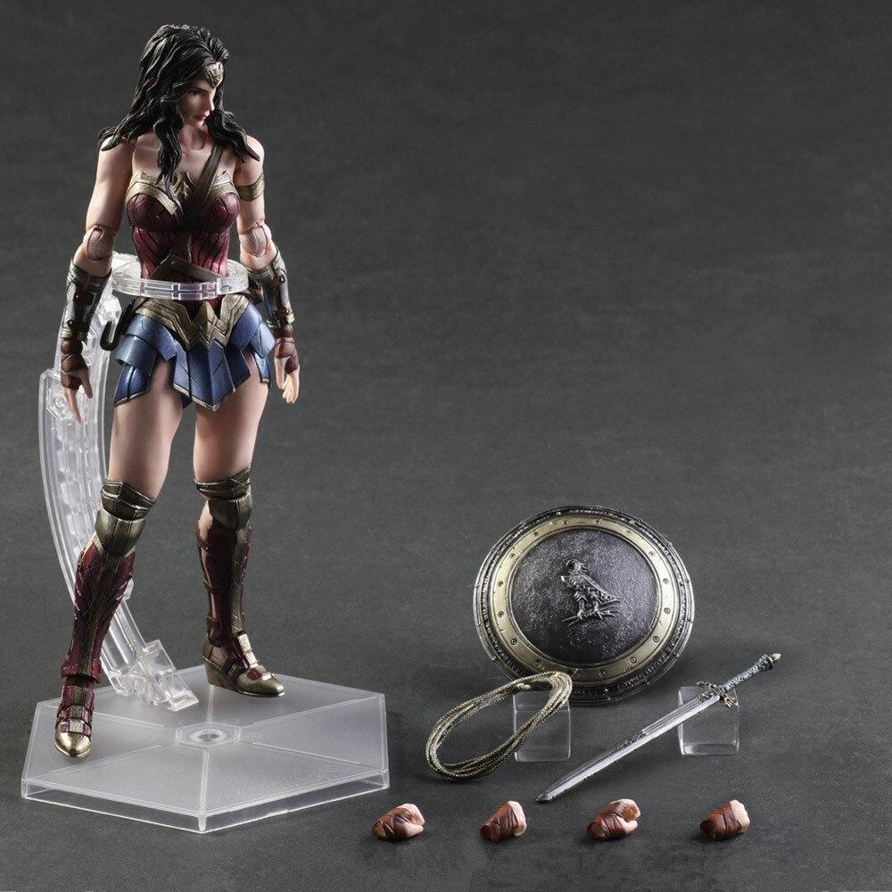 Justice League Batman vs Superman l'aube de la Justice merveille femme PVC figurine à collectionner modèle jouet 26 cm