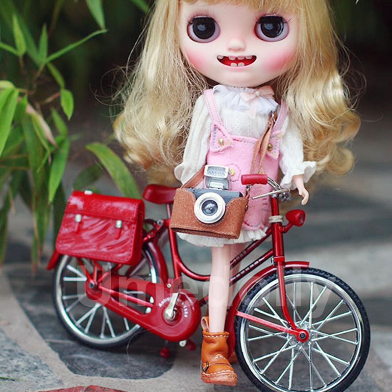 BJD DD Blythe Azone Licca Doll Accessorie Mini Bicycl Bike for 1//6 Photograph Be