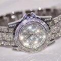 2017 Nueva Llegada de Lujo de Las Mujeres Relojes de diamantes de Imitación de Cristal Reloj de pulsera de Señora Reloj de Vestir de Los Hombres de Lujo Analógico de Cuarzo Relojes Relogio