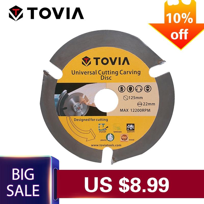 TOVIA 3 t hoja de sierra Circular multiherramienta de disco de sierra con punta de carburo de madera disco de corte de madera de corte de herramienta de poder de accesorios