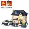 Модель строительство комплекты совместимы с lego Город девушка друзья Вилла 3D блоки Образовательные модели здания игрушки хобби для детей