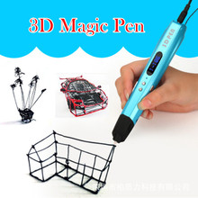 2017 Newest Original 3D Magic Pen Children Birthday Gift Toy Pen 3D Pens With Free PLA Filament Control Speed Free Shipping