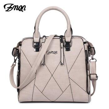 ZMQN sacs à main de luxe femmes sacs Designer 2019 marques célèbres femmes sac à bandoulière en cuir PU gland couture dames sac à main A801