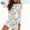 Lace Girl Плюс Размер Новый 2017 Женщины Sexy Кружева Крючком кисточкой Бикини Купальники Крышку Ибп Лето в Стиле Beach Dress Купания костюм