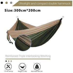 Image 2 - 2 3 persona di Colore Solido Paracadute Hammock di Campeggio Di Sopravvivenza giardino altalena Per Il Tempo Libero borsa da viaggio Portatile Amaca per mobili da giardino