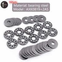 10sets Miniature Bearing Steel Thrust Needle Roller Bearings Ultra Thin Shim Thrust Bearings Inner Diameter 6/8/10/15/17mm