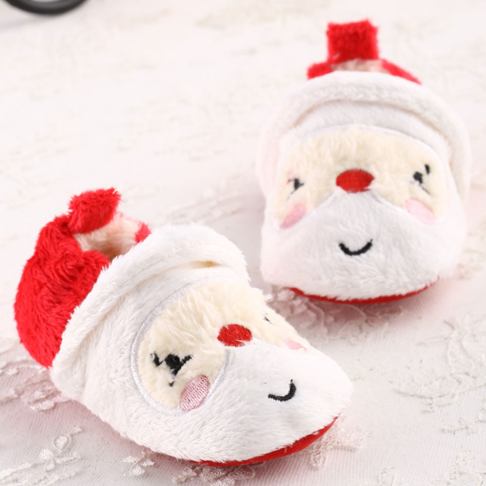 Best Christmas Gift Baby Girls Soft Sole Crib Warm Button Flats Cotton Boot Toddler Prewalke Shoes Anti-slip Design Baby Shoes