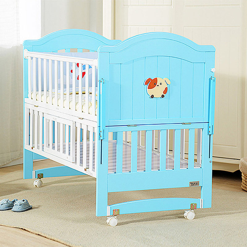 0-6 Year Baby Bed  Children's Bed  Solid Wood  Baby Crib  Multifunctional Baby Cribs  Can Be Lengthened Baby Cot