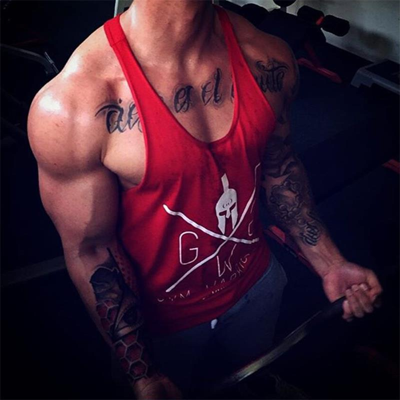 Men Muscle Workout Vest Fitness   Tank     Top   Letters Printed Sleeveless Shirt   Top   Bodybuilding Gyms Work Out Clothing