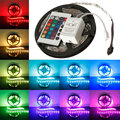 High Quality 5M 5050 SMD RGB Non-Waterproof 300 LED Strip Light 12V DC 24 Key IR Controller
