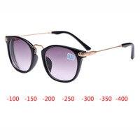 New Myopia Sunglasses Women Myopia Eyeglasses Frame With Sunglasses Lens Myopia Eyewear Reading Glasses 100 150