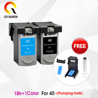 2pcs Compatible ink cartridges For Canon PG40 CL41 PG 40 CL 41 iP1600 / IP1700 / IP1800 PG 40 CL41 MP140 MP450 MP470 printer
