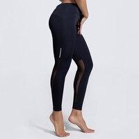 So Sexy! schwarz Slim Leggings Frauen Netz Splicing Legging Plus Größe S-3XL Sommer Neue Dry Schnell Turnhallen Trainingskleidung Drop Ship