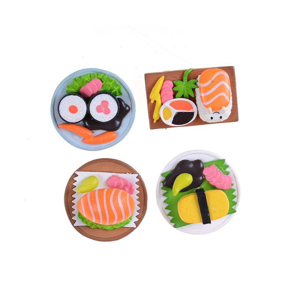 Mini Cute Japanese SuShi Scenes Decoration Anime Ornament Figures Toys/Cartoon Dollhouse/Micro Garden DIY Accessories