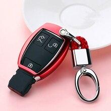 Odporne na zużycie miękkie TPU etui na klucze nakładka na klucz powłoka ochronna uchwyt do Mercedes benz A B R G klasa GLK GLA w204 W251 W463 W176