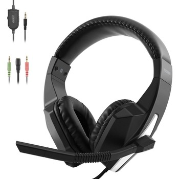 LESHP Gaming Headset Over-Ear Headphone with Microphone Volumn Control 3.5mm Audio for Xbox One for PS4 for PC Laptop Phones