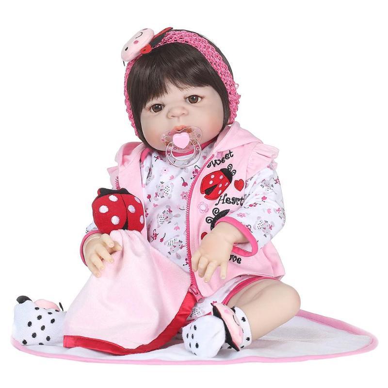 22inch Realistic Soft Silicone Reborn Baby Doll Imitation Newborn Girl Bathing Playmate Toys 22inch Realistic Soft Silicone Reborn Baby Doll Imitation Newborn Girl Bathing Playmate Toys