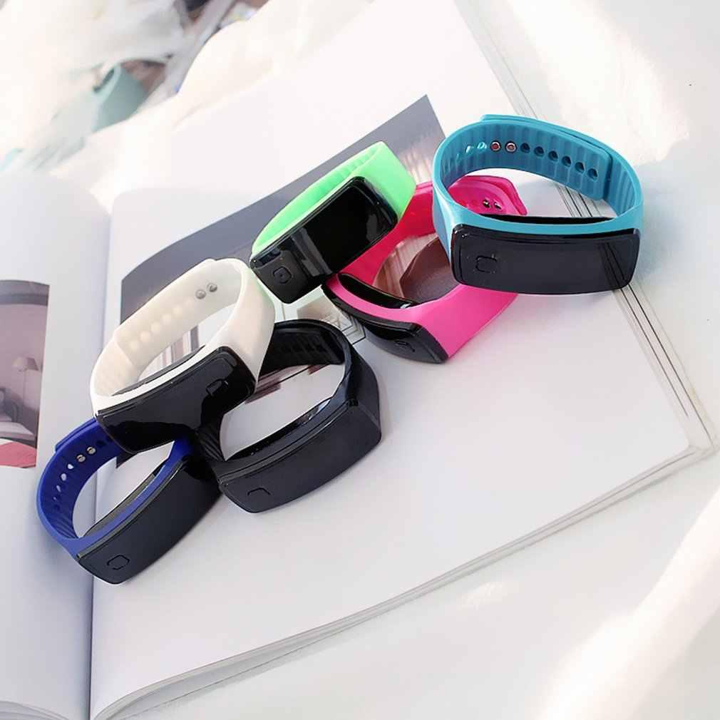 Genboli led silicone pulseira de pouco peso macio moda relógio de fitness esportes banda relógio para mulheres masculinas dropshipping