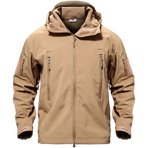 Image 5 - TACVASEN Fleece Tactical Jacket Men Waterproof Softshell Jacket Windproof Hunting  Jackets Hiking Clothes  Outdoor Heated Jacket