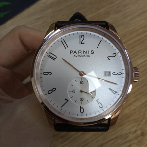 Image 2 - New Parnis White Dial Rose Gold Case Mechanical Automatic Mens Watches Diver Minimalist Men Watch Wristwatch Luxury Waterproof