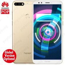 Küresel Rom Seçeneği Huawei Onur 7C Android 8.0 Cep Telefonu Yüz KIMLIĞI 5.99