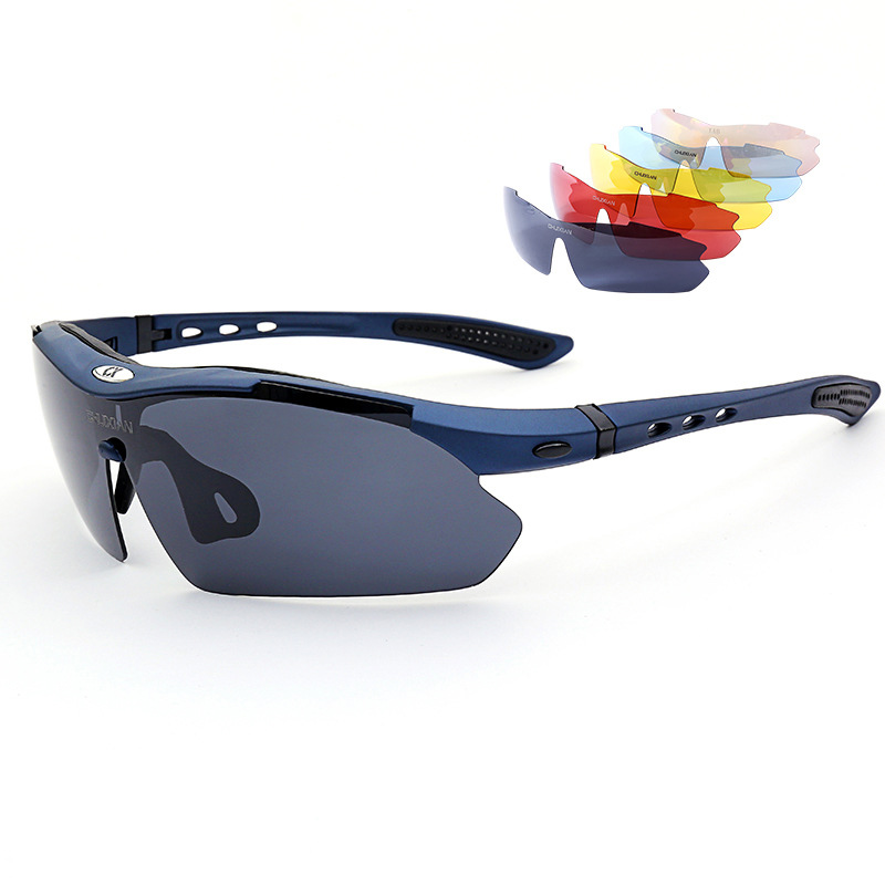 Fishing Sunglasses with Four lens Eyewear UV400 Polarized Fishing Riding Hiking Eyewear Day Night Vision Glasses in Fishing Eyewear from Sports Entertainment
