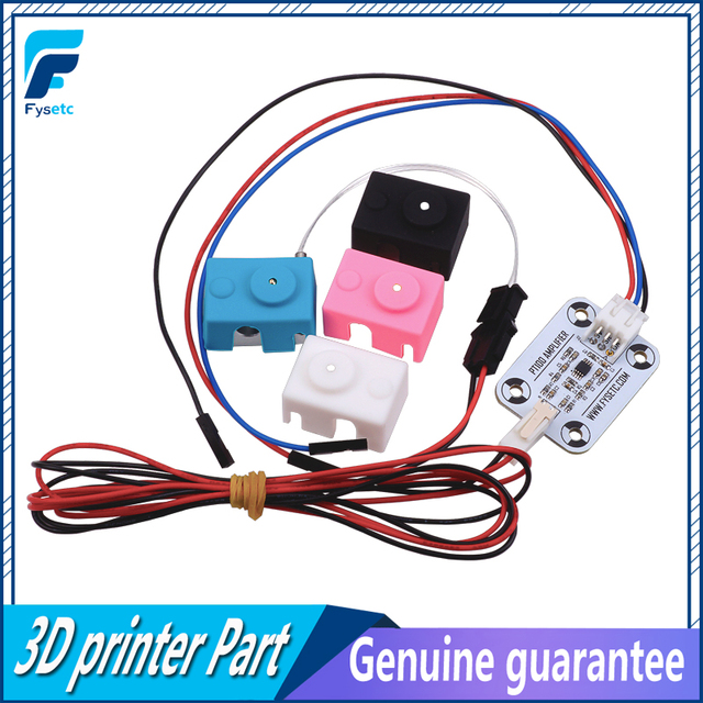 Hot End PT100 Sensor Upgrade Kit PT100 Temperature Control Panel Sensor Heating Block With Silicone Sock 3D Printer Part